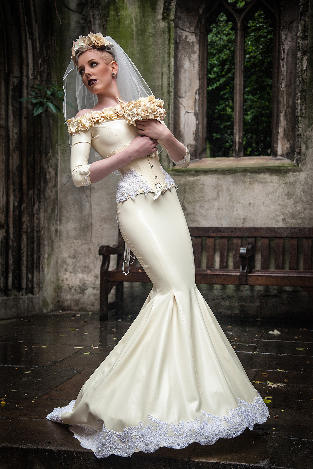 A Latex Wedding Dress To Remember By Am Statik Lust Love